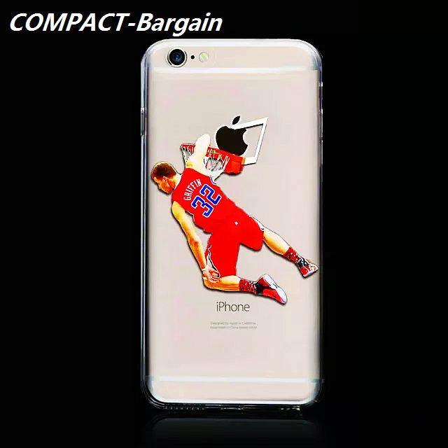 Jordan Sport Basketball Player Ultrathin Transparent Hard Plastic Case For Iphone 6 6S Plus 4.7 I6 5 5S Skin Cover NBA Shooting