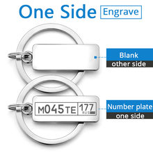 Tùy chỉnh Khắc Keychain Đối Với Xe Tấm Biểu Tượng Số Cá Nhân Quà Tặng Anti-bị mất Keyring Key Chain Vòng P009C(China)