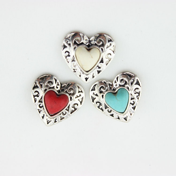 Zinc Alloy Snap Button Charms Mix Colors Heart Shape Snap Jewelry Fit Snap Necklaces/Bracelets For Christmas Gift<br><br>Aliexpress
