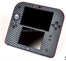10pcs/Lot 4 Colors Available Protective cover Case Carbon Fiber Skin sticker decal for Nintendo 2DS decal