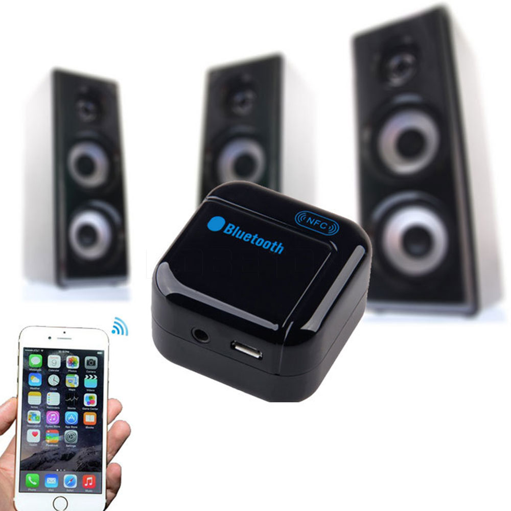 High Quality 3.5mm USB NFC Wireless Bluetooth Stereo Audio Music Receiver Adapter Wireless Speaker Adapter<br><br>Aliexpress