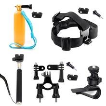( 5 в 1 году ) аксессуары расслоение комплект для Sony действие Cam камеры глава ремень + солнцезащитный козырек автомобиля / руль + монопод плавающей полюс