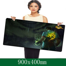 Professional computer game mouse pad LOL series 900x400mm super large with edge locking for deskop and laptop computer(China (Mainland))