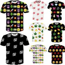 Raisevern new Emoji print men woman unisex t shirt cute cartoon tshirt casual top tees 100 hemp hip hop emojis T-shirt(China (Mainland))
