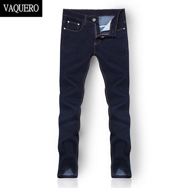 2015 новое поступление высокое качество мужские джинсы синий деним мужские узкие ...