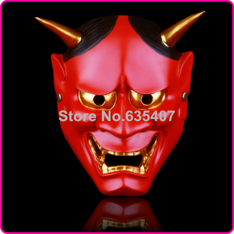 China Manufacturer Japanese Buddhism Prajna Ghost Traditional Hannya Mask Hannya Mask Small Red(China (Mainland))