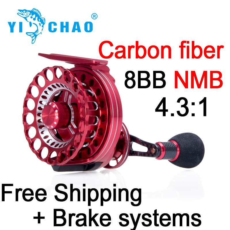 Mr.Charles New HHD65 Gear ratio 4.3:1 Aluminum Front-end Fishing Left/Right Hand Fly Fishing Reel Raft Ice Fishing Reel(China (Mainland))