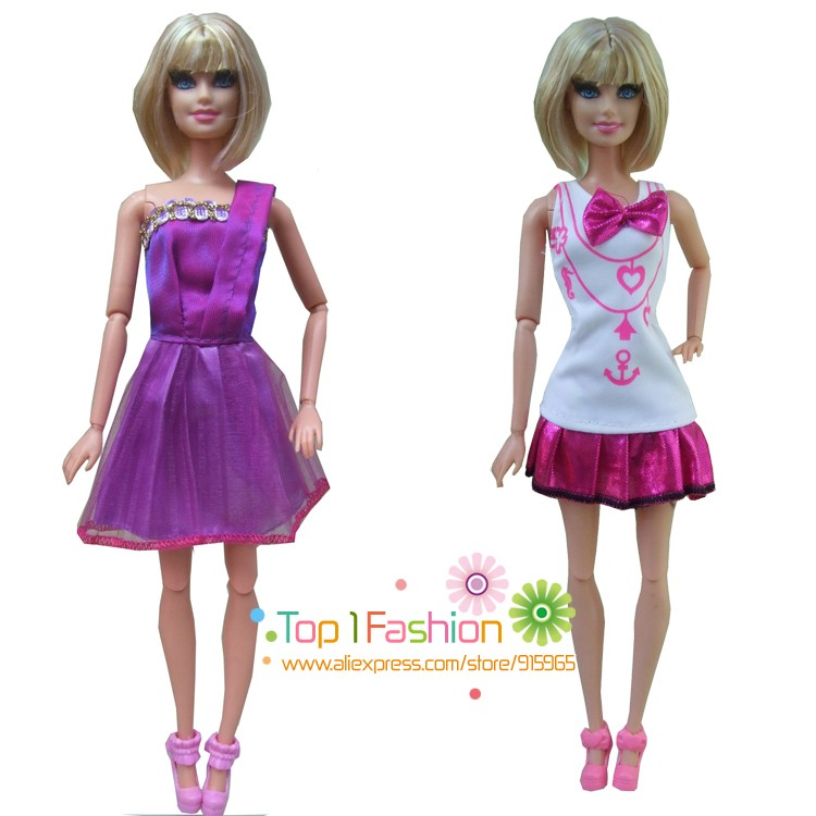 new free transport 5sets=garments pants or mini skirt set trend outfit Garments go well with set coat for barbie doll costume for woman reward
