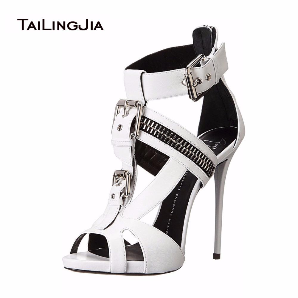 Sandals shoes sale - 2016 Fahion Summer Casual Open Toe Zipper Ankle Wrap High Heel Sandals Gladiateur Femme Platform Shoes
