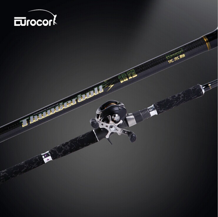 lures rod black torpedo strong suit pole fishing rod superhard carbon ultralight water drop reel + casting handle<br><br>Aliexpress