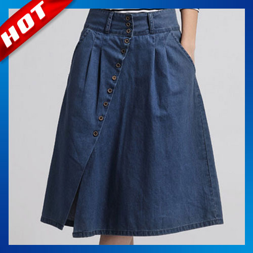 summer style 2015 denim skirts casual plus size maxi