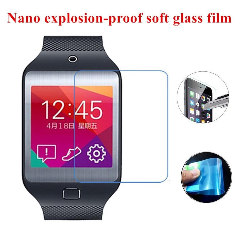 Nano Explosion-proof Soft Glass Clear Screen Protector Protective Film for Samsung Galaxy Gear 2 Neo/R381(China (Mainland))