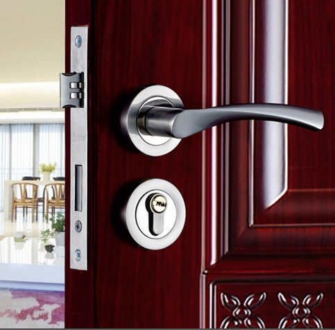 Top Quality Brand European Style Bedroom Door Handles Locks With Key Wooden D