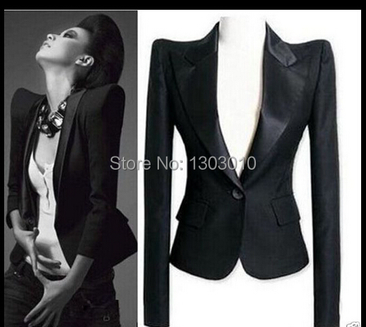 New Womens Celeb Peaked Shoulder Tuxedo Lady Blazer Suit Jacket coat outwear Tops(China (Mainland))