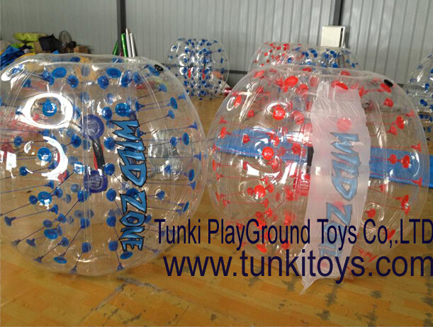 colorful red and yellow bubble zorb footballs, color and size can be customised(China (Mainland))