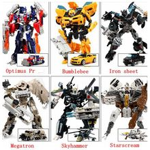 Transformation 4 Optimus Pe Bumblebee Cars Brinquedos Robots Action Figures Classic kids toys for boys juguetes