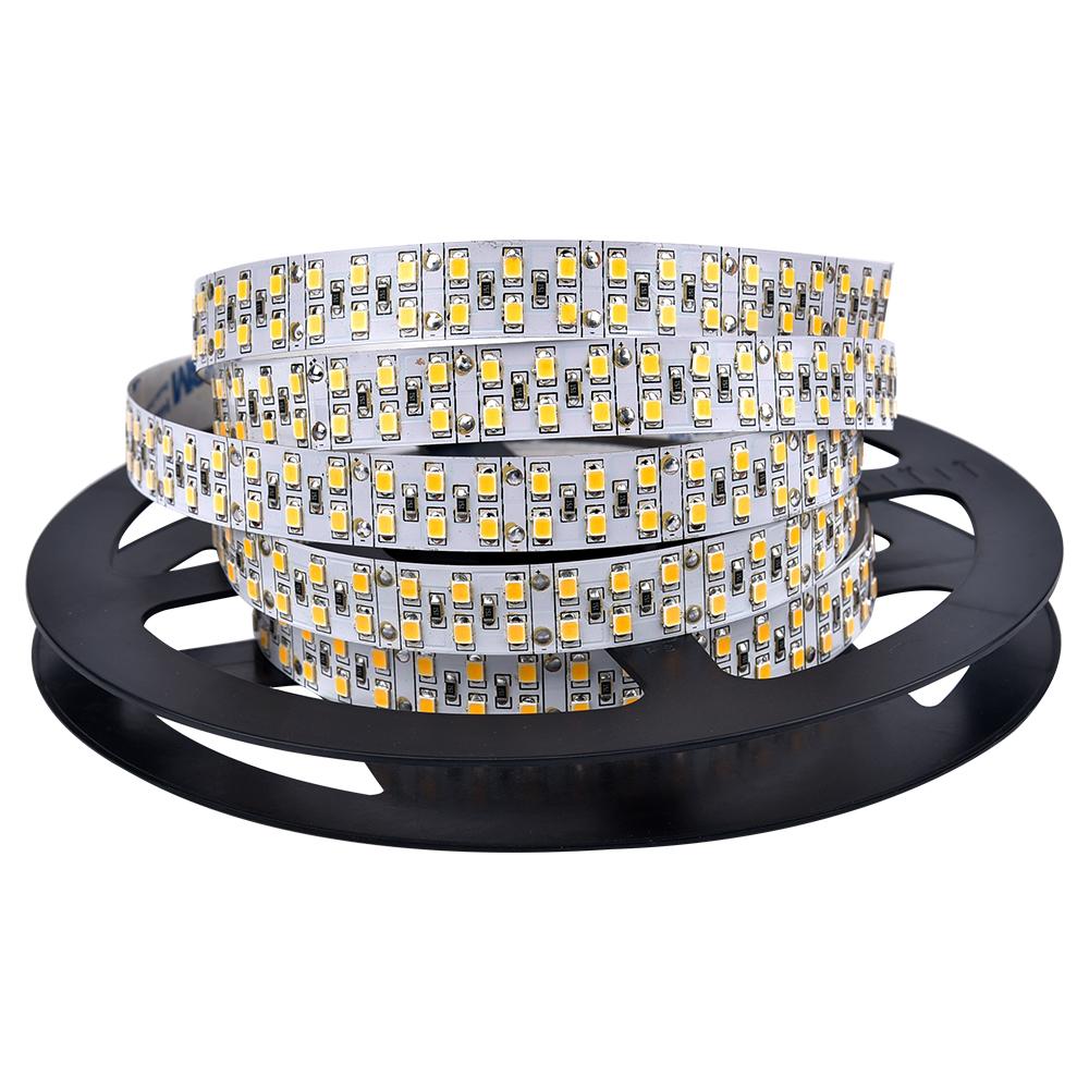 LED Strip Light SMD 2835 DC12V 240leds/m 5m 600 LEDs Ribbon Tape Lamp for Home Car Party Bar Christmas Decor Lamp Non Waterproof(China (Mainland))