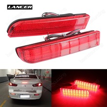 Buy Lancer Evo X Red Lens Bumper Reflector LED Tail Brake Stop Light CZ4A Outlander Sport / RVR / ASX, CA256 for $20.09 in AliExpress store