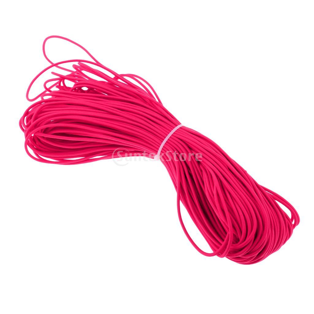 3mm x 0.5/1/2/5/10/20/30/50/100m Elastic Bungee Rope Shock Cord Tie Down Kayak Canoe Boat Trailer Purple/Rose