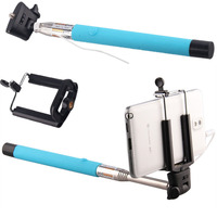 2015 Wired Selfie Stick Handheld Monopod Built-in Shutter Extendable palo For Gopro For iPhone Samsung Smarphone Camera Stand