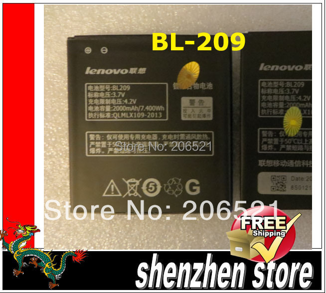 Battery For Lenovo BL-209 A706 A760 A516 A378T A398T BL209 Free shipping Airmail + tracking code
