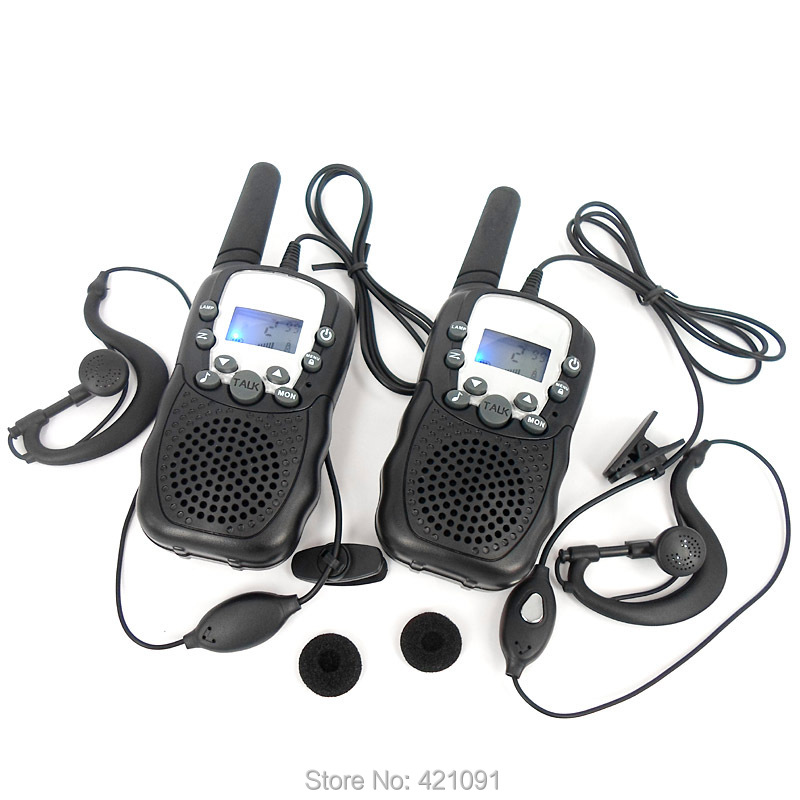 Mini T-388 Radio Walkie Talkie 0.5W UHF For Kid Children LCD Display with Flashlight Travel Two Way Radio Hf Transceiver(China (Mainland))