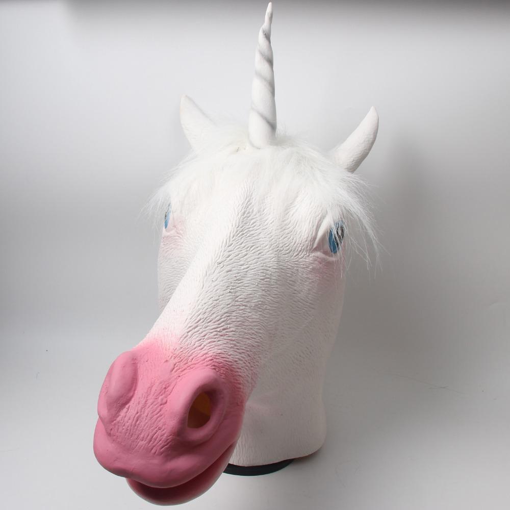 Full Head Unicorn Mask Latex Animal Halloween Cosplay Party Costume(China (Mainland))