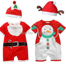 Baby Infant Christmas Santa Clothes Santa Suit Hat Set Boys Girls Newborn 1-3 US(China (Mainland))