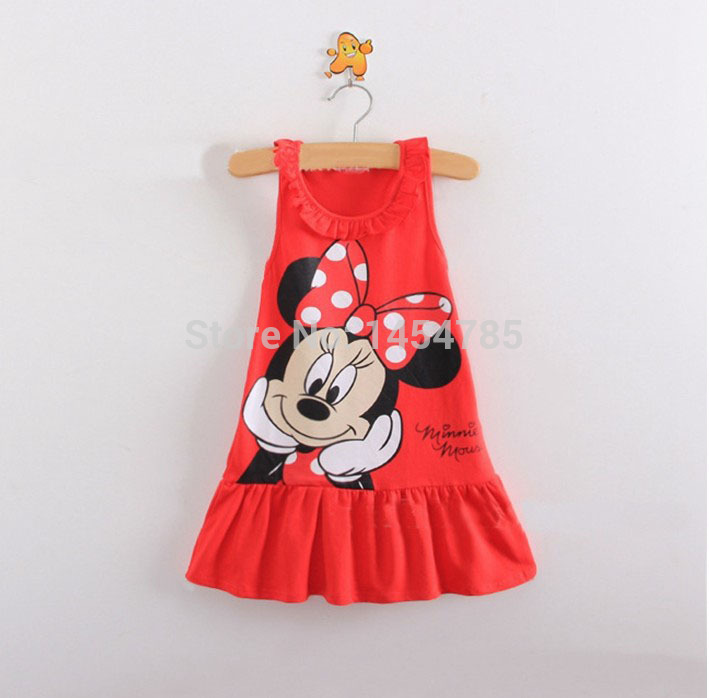 Girls Dresses, New Designer cotton 2015 summer cartoon cat child clothing baby dress princess - Top win Store store