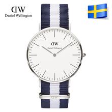 2015 New Fashion Watches Men TOP Brand Luxury Daniel Wellington Watch DW Nylon Strap Silver Quartz Watches Clock hombre relojes