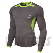 Long Sleeves Compression Base Layers W/ Graphic Double Sleeves Multi-functional Fitness Exercise Sports Tops T-shirt