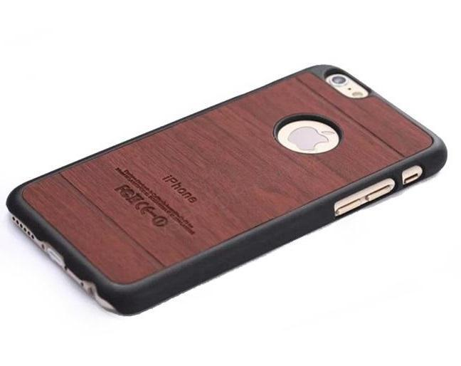 Vintage Wooden Grain Case For Iphone6 4.7 Unique Shell Retro Case Luxury PC Leather Hybrid Mobile Phone Back Cover Wholesale SK5(China (Mainland))