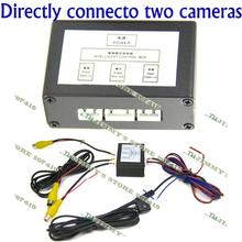 front or side and rear view camera 2channel two car cameras video control two camera system manual switch  (China (Mainland))