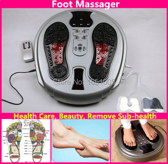 Electromagnetic Wave Pulse Foot Massager Healthcare Beauty Feet Massaging Machine Instrument Infrared Remote Control(China (Mainland))