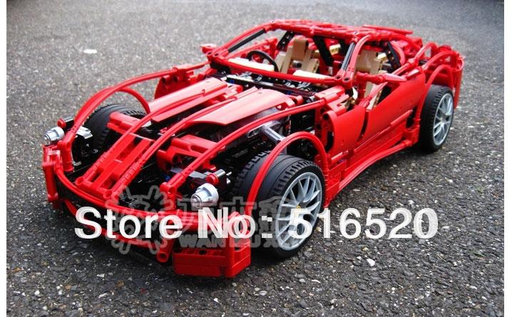 Decool 599GTB série de voiture de course 1:10 Building Block définit 1322 pcs Jigsaw éducation Enlighten jouets de bricolage pour les enfants 3333(China (Mainland))