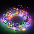 10m 100 waterproof AA battery LED christmas lights outdoor copper wire string lights Garland new year