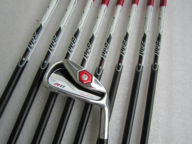 Brand New 9PcsR 11 Irons R 11 Golf Irons R 11 Iron Set Golf Clubs 4-9PASw Regular/Stiff Flex Graphite Shaft With Head Cover(China (Mainland))