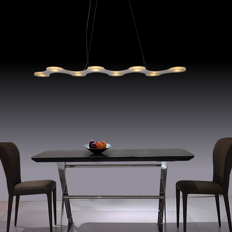 Post Modern 8*3w Acrylic Led Luminaria Star Light Pendant Led Lamp Acryl Pendant Lights Cafe Shop Bar Kitchen Lamparas Colgantes(China (Mainland))