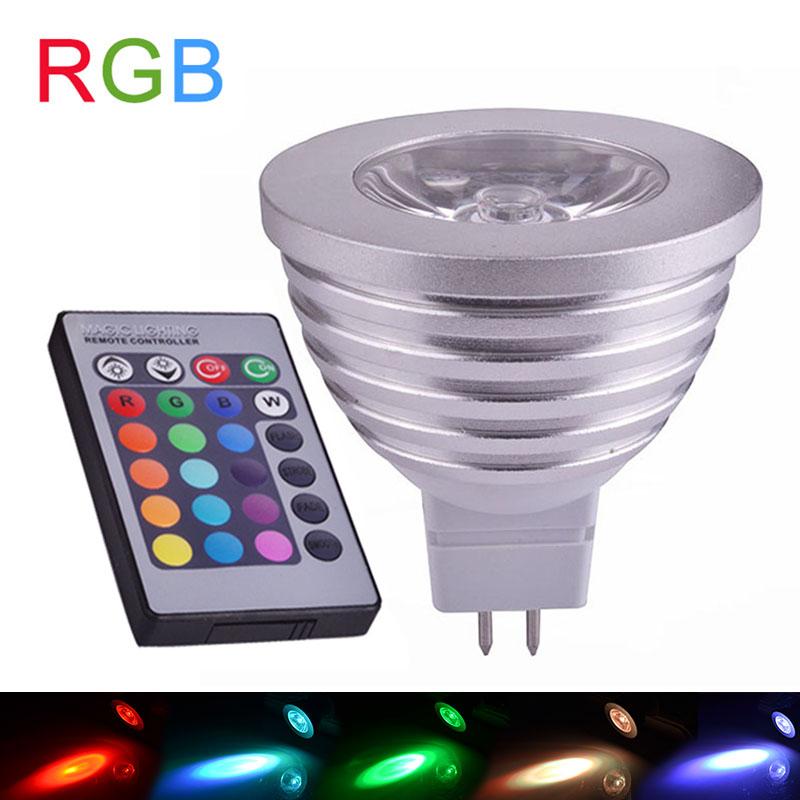 NEW Arrival RGB LED Lamp MR16 4W 8-24V Long Life Span LED RGB Bulb Spot Light with IR Retome 16 Beautiful Color Changing Luz LED(China (Mainland))