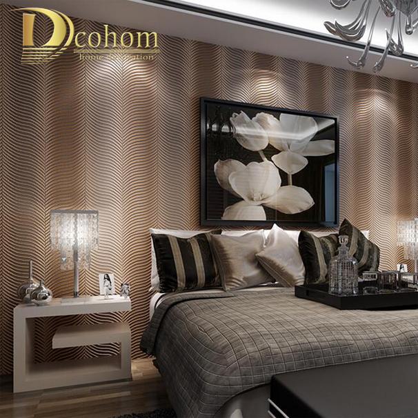 Buy fashion minimalist geometric striped for Grey striped wallpaper living room