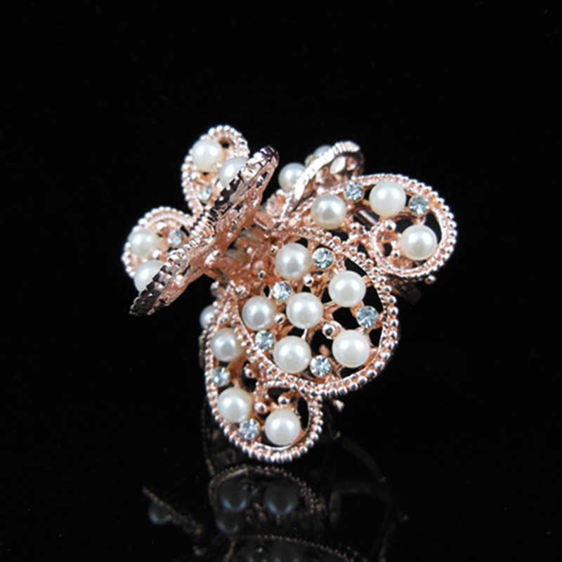 10pcs Hair Clip Barrette Clamp Claw Metal Rhinestone Crystal Butterfly Hair Accessory(China (Mainland))