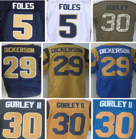 Cheap Sale New Style #30 Todd Gurley jersey 100% Stitched Elite Jerseys Authentic #5 Nick Foles Jersey Size:M L XL XXL XXXL(China (Mainland))