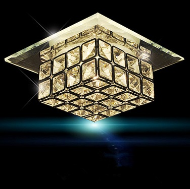 12CM Modern Crystal LED ceiling lamps,Simple corridor balcony entrance square glassfor bedroom hall,Bulb Included<br><br>Aliexpress