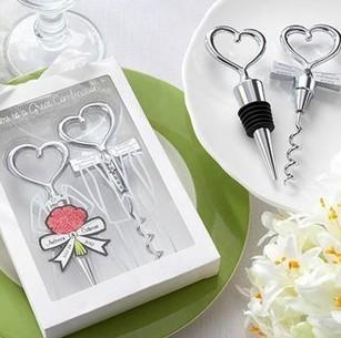 Wedding Gift Wine Corkscrew Opener And Stopper Set/ Bar Accessories/ Xmas Gift/ Bottle Stopper Set/ 10sets Per Lot