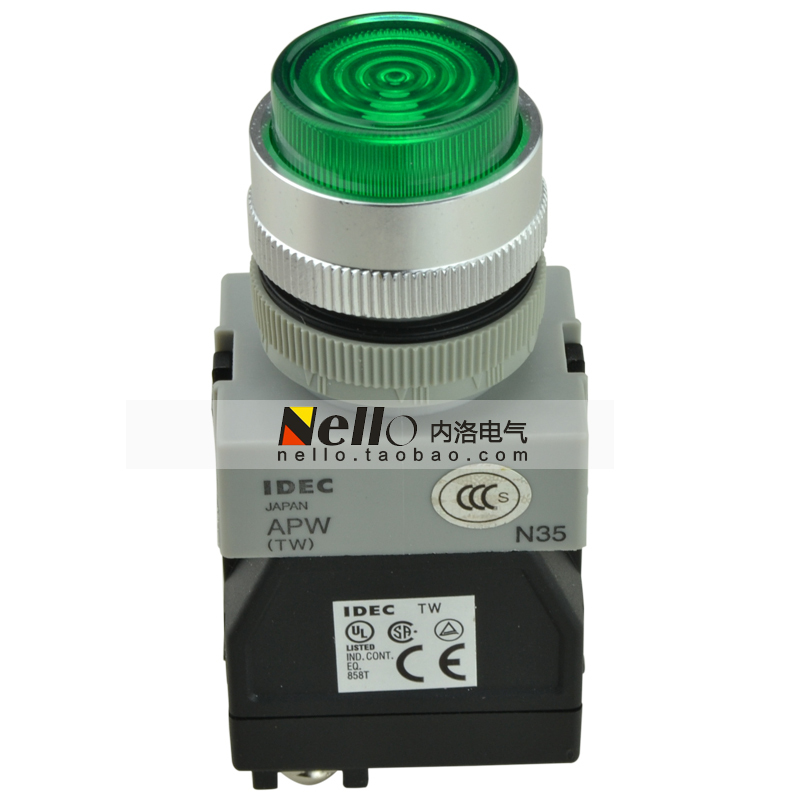 [SA]Genuine Izumi 22mm 220V LED indicator lights with transformer type APW126DG--5pcs/lot<br><br>Aliexpress