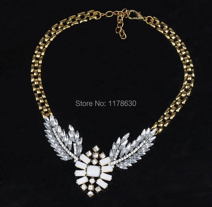 hot sale fashion female great crystal spendant & necklace and crystal pearl retail & wholesale V001 free shipping(China (Mainland))