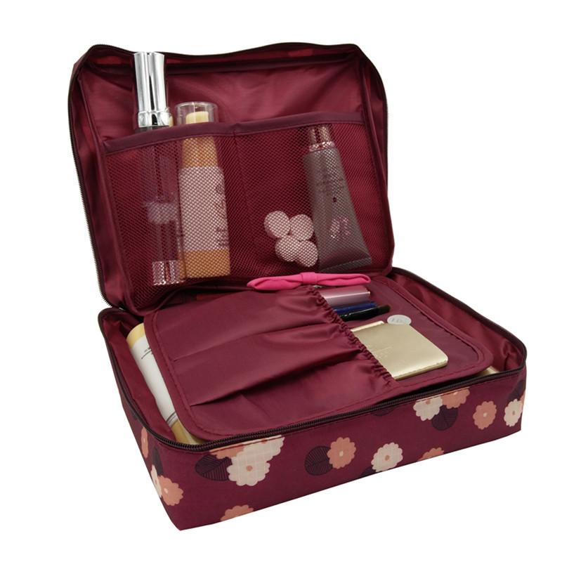 Beautician Vanity Necessaire Trip Women Travel Toiletry Wash Bra Underwear MakeUp Makeup Case Cosmetic Bag Organizer Accessories