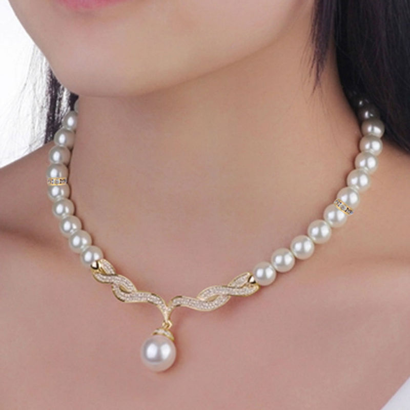 2016 New Elegant Wedding Jewelry sets Imitation Pearl ...