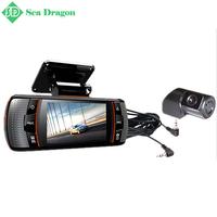 2015 New F90G H.264 Dual Lens Car DVR w/GPS/G-Sensor Full HD1920x1080p 20FPS/2.7' LCD/HDMI/External IR Rear Camera/Allwinner CPU