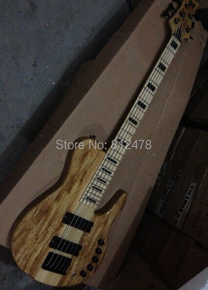 Custom mahogany High quality 5 strring Good sound bass guitar Free shipping(China (Mainland))